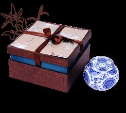 铁皮石斛叶片茶青花瓷礼盒装